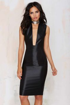 Misha Collection Catalina Plunging Dress