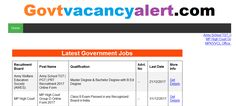 Get all government vacancy or exam like Railway, Bank, SSC, Army, Navy, Police, UPPSC, UPSSSC , bihar jobs , up jobs , mp jobs, jharkhand jobs latest govt recruitment and result on Govtvacancyalert. find new sarkari naukri vigyapan and also get online form filling link and study materials.