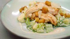 Eén - Dagelijkse kost - gebakken zeetong met aardappelsalade Caesar