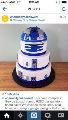 Love this cake! Cake Immaculate - Star Wars Cake - Ideas of Star Wars Cake - Love this cake! Star Wars Torte, Bolo Star Wars, Star Wars Cake, Bolo R2d2, Star Wars Birthday Cake, Star Wars Wedding Cake, Diy Birthday, Birthday Cakes, Birthday Ideas