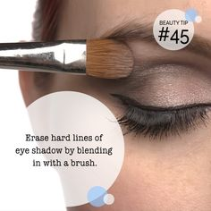 All your eyeshadow needs is a little blending! Try to erase harsh lines with a small brush.