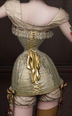 vintage corset art!♥  Twisted Dolls: The Butcher´s Bride by Rebeca Puebla, via Behance