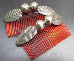 Vintage Sterling Silver Hair combs barrette CHERRIES 43grams Taxco Mexico 1950's | eBay