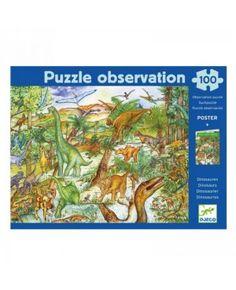 Observatiepuzzel Dinosaurs 100st - Djeco