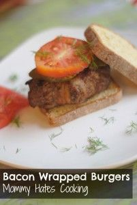 Grilled Bacon Wrapped Burgers