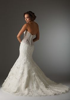sooo pretty/but add material so not see by Essence Collection By Bonny Bridal, House Of Brides, Bonny Bridal, Bridal Collection, Fit And Flare, Bridal Dresses, Ball Gowns, Tulle, Outfits, Chapel Train