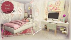 Dinha Gamer: Tumblr Room • Sims 4 Downloads