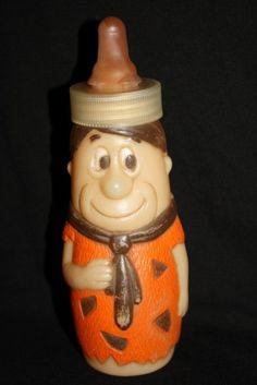 I still have mine!  =)    1977 FRED FLINTSTONE baby BOTTLE Vintage by Pooyabee on Etsy