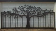 Driveway & Entry Gates | Handcrafted Metal Art Tree Themed Silhouettes                                                                                                                                                                                 More