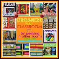 Organization ~ Read Alouds By Month and TONS of organizational tips for all those little thingys around your room!