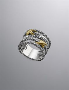 David Yurman crossover double x ring