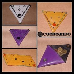 Cuereando: Monederos triangulares