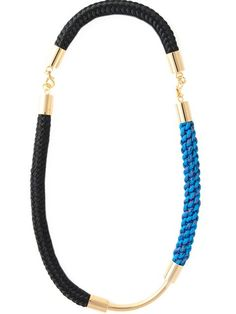 Shop Marni contrasting panel necklace in O' from the world's best independent boutiques at farfetch.com. Over 1000 designers from 300 boutiques in one website.