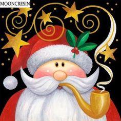2019 New Hot Sale Santa Claus Moon Star Diy Diamond Painting Kits Christmas Graphics, Christmas Clipart, Noel Christmas, Christmas Printables, Christmas Pictures, All Things Christmas, Vintage Christmas, Christmas Ornaments, Clipart Noel