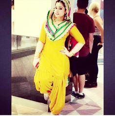Yellow Punjabi Suit