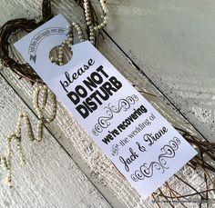 WEDDING Door Hangers 3 x 10 for Hotel Welcome Bags  1 by drexart, $1.25