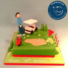Golf Themed Birthday Cake,  made by The Foxy Cake Company