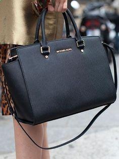 Love The Fashion, Love Life, Love Michael Kors Selma Top-Zip Large Black Satchels!