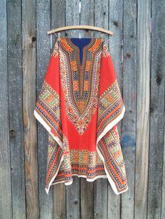 DIY Vintage Ethnic Printed Tunic Fabric Panel by bettyrayvintage
