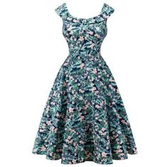 Retro Cape Sleeve  Floral Capelet Dress