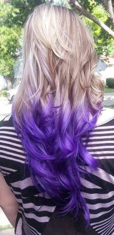 CutColor by Cami Elliott #purple #ombre #blonde