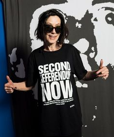 Katharine Hamnett: the protest T-shirts you see today tend to be a bit namby-pamby Katharine Hamnett, Slogan Tee, Celebs, Celebrities, Second Skin, Cool Bands, Textile Design, Shirts For Girls, Celebrity Style