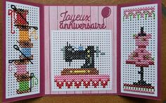 Mini Cross Stitch, Cross Stitch Cards, Cross Stitching, Cross Stitch Embroidery, Cross Stitch Patterns, Beaded Cross, Marianne Design, Card Patterns, Diy Projects To Try