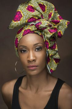 Stunning and Trendy Ankara Headwrap Styles in 2019 – Naija's Daily – Pink Unicorn African Head Scarf, African Head Wraps, African Fashion Ankara, African Wear, Afro, Style Turban, Hair Wrap Scarf, Head Band, Trendy Ankara Styles