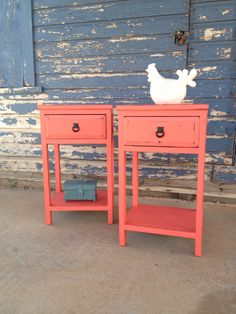 End tables done in American Paint Company Coral Reef. #americanpaintcompany #apc