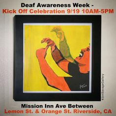 Please stop by our booth on Saturday Sept 19th at the Kick Off Celebration in Riverside, CA for Deaf Awareness Week 2015.We will be displaying our artwork and offering commission artwork. --------------------------------------- #art #artist #popart #popartist #contemporary #contemporaryart #digitalart #localartist #riverside #modeldeaf #booth #artbooth #california #jonsavagegallery