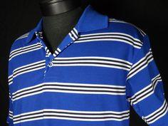 Bertigo Baresi Mens Polo Shirt Size XL Blue Striped Short Sleeve #BertigoBaresi #PoloRugby