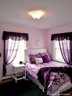 Pretty in Purple ~ Teen Bedroom by Exquisitely UnremarkableYou can find Purple bedrooms and more on our website.Pretty in Purple ~ Teen Bedroom by Exquisitely Unremarkable Purple Bedroom Design, Purple Bedrooms, Bedroom Colors, Bedroom Sets, Bedroom Themes, Romantic Purple Bedroom, Comfy Bedroom, Modern Bedrooms, Diy Bedroom