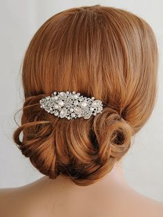Etsy Swarovski Pearl Bridal Hair Comb, Crystal Wedding, #ad