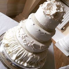 All Ivory wedding cake by Corr's cakes