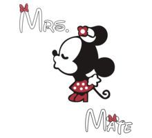 Minnie Kissing Mickey + Mrs + Mate by daleos