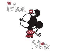 Minnie Kissing Mickey + Mrs + Mate by daleos