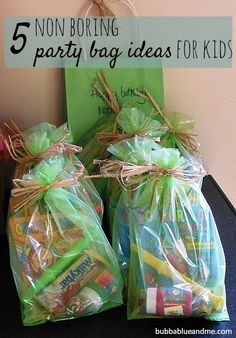 5 non-boring party bag ideas for kids - Bubbablue and me The Ultimate Pinterest Party, Week 81