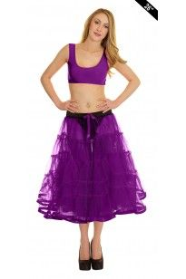 Crazy Chick Purple TuTu Skirt With Ribbon Approximately 26 Inches Long