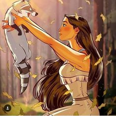 34 in Fairy Tales : tarusov: Pocahontas commission. Not a pin-up, just. Disney Pixar, Disney Pocahontas, Disney Animation, Film Disney, Disney Kunst, Disney Fan Art, Disney And Dreamworks, Disney Girls, Disney Cartoons