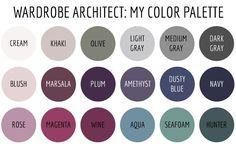 Soft summer ---Wardrobe Architect - My Color Palette