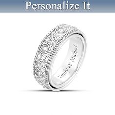 Our Love Will Never End Personalized Diamond Ring