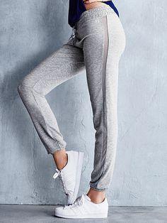 Mesh-inset Skinny Pant Super Soft Knits