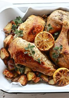 Dinner tonight: Greek chicken with lemon + oregano | The Clever Carrot