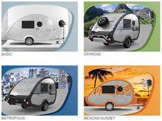 Varianten des T@B 320 RS - http://www.kleinewohnwagen.de/2015/10/tab-320-rs-mini-caravan.html