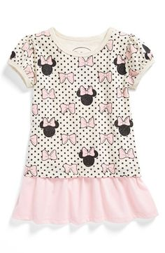 Cute Minnie Mouse Tunic done in such a tasteful way... Mighty Fine 'Minnie' Tee (Toddler Girls) available at #Nordstrom