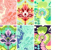 This is Amy Butler fabric. These particular colors are available in laminate....laminated fabric. Like, for a RAINCOAT or DIAPER BAG!!!