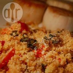 Mediterranean Couscous. Sub garlic olive oil for garlic.