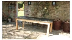 Slate Top Kitchen Farmhouse Furniture Handmade in UK,Tables Antique Contemporary ,Painted Table,Solid Oak Coffee Tables Slate Topped, Solid Oak Coffee Table, A Table, Dining Table, All Kinds Of Everything, Banquet Tables, Handmade Table, Kitchen Tops, Garden Table, Farmhouse Furniture