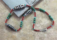 Dharmashop.com - Tibetan Dzi Necklace with Coral and Turquoise, 165.00 (http://www.dharmashop.com/tibetan-dzi-necklace-with-coral-and-turquoise/)