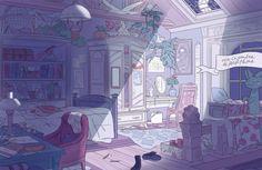 aesthetic anime bedroom persephone pretty illustration bg drawings houses 3d concept interior inspo reference uploaded maya user visit roof gemerkt